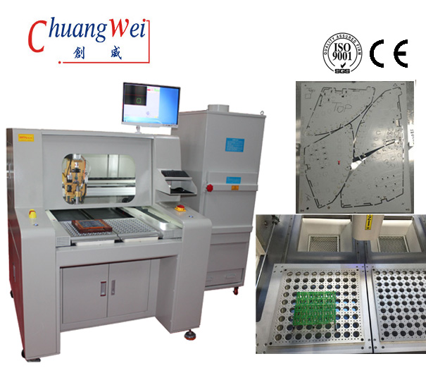 Inline PCB Router Machine / PCB Depaneling Router With Stress Free,CW-F04