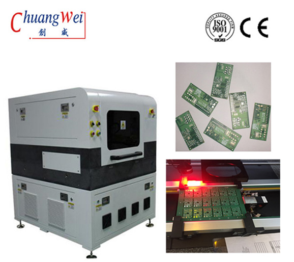 355nm Laser Wavelength  Routing / Die Cutting PCB Depaneling Machine With No Stress, CWVC-5L