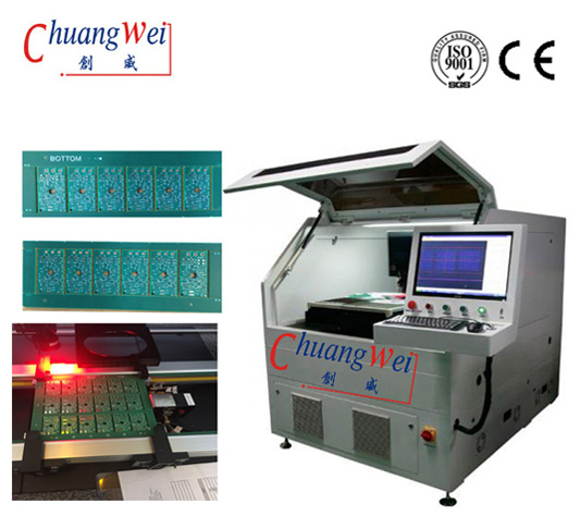 Q Switched Diode Pumped All Solid State UV Laser Depaneling Machine PCB Separaror 15W / 17W,CWVC-5S