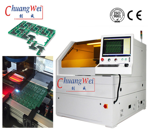 High Accuracy FPC / Rigid - Flex PCB Laser Depaneling Machine No Mechanical Stress, CWVC-5S
