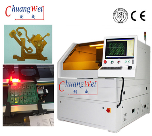 Buy Laser Drilling Machine | UV Laser System for Flex Cutting PCB Depaneling , CWVC-5S