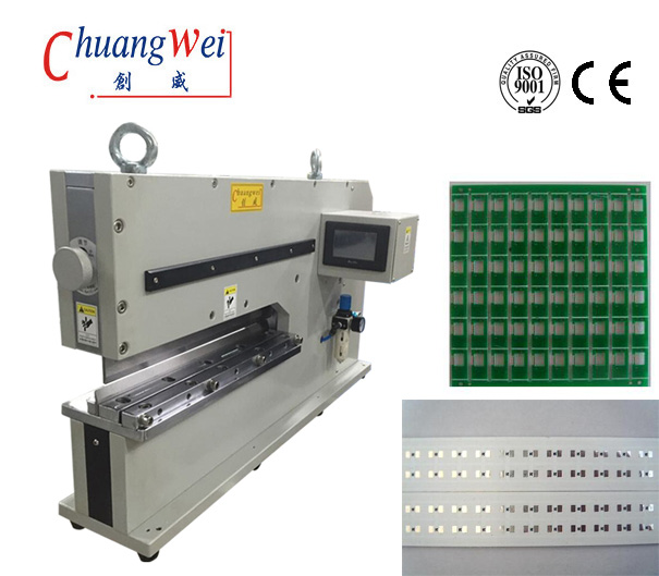 Pneumatic Pcb Separator Machine, Motorized Pcb Depanel For Cutting Metal Board,CWVC-480