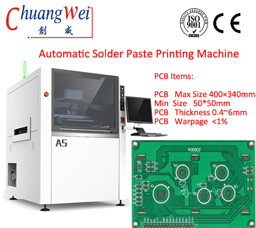 SMT,PCB Manufacturing, PCB Solder Paste Printing Machinery,CW-A5