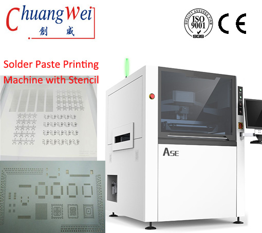 High Speed Stencil Printer SMT Machine Fully Automatic Solder Paste,CW-ASE