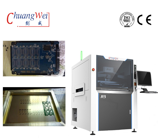 SMT LED PCB Automatic Stencil Printer Machine For Solder Paste,CW-A9