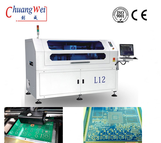 LED Automatic Screen Printer PCB Solder Paste Printing Machine,CW-12