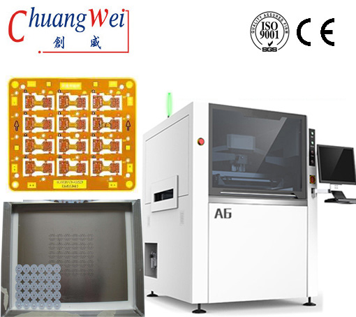 SMT Printer-PCB Assembly Equipment, Auto Screen Printer,CW-A6