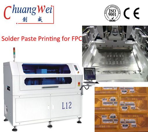 LED Production Line/Automatic Solder Paste Screen Printer for PCB FPC Assembly,CW-L12