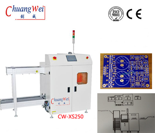 Optional Mode PLC System for PCB PWB SMT Loader,CW-XS250
